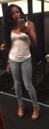 heels and white tee